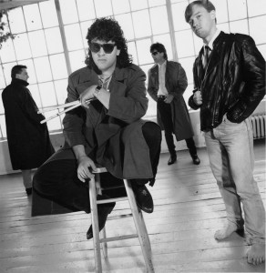 The Jag - photoshoot in Brooklyn 1990, Mark and Robert in back....